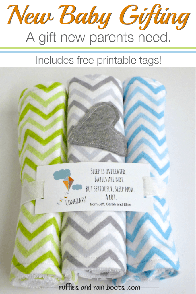 Make this easy baby burp cloth tutorial - perfect for beginners and ALL parents need a ton of these things.