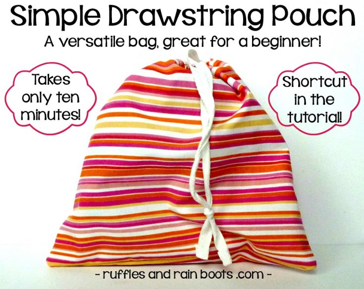This 10-Minute Drawstring Bag Tutorial Will Have You Smiling