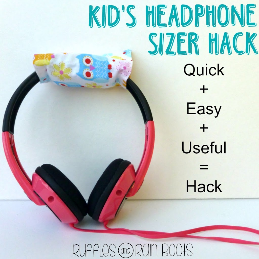 Kid's Headphone Sizer Hack Tutorial from Ruffles and Rain Boots