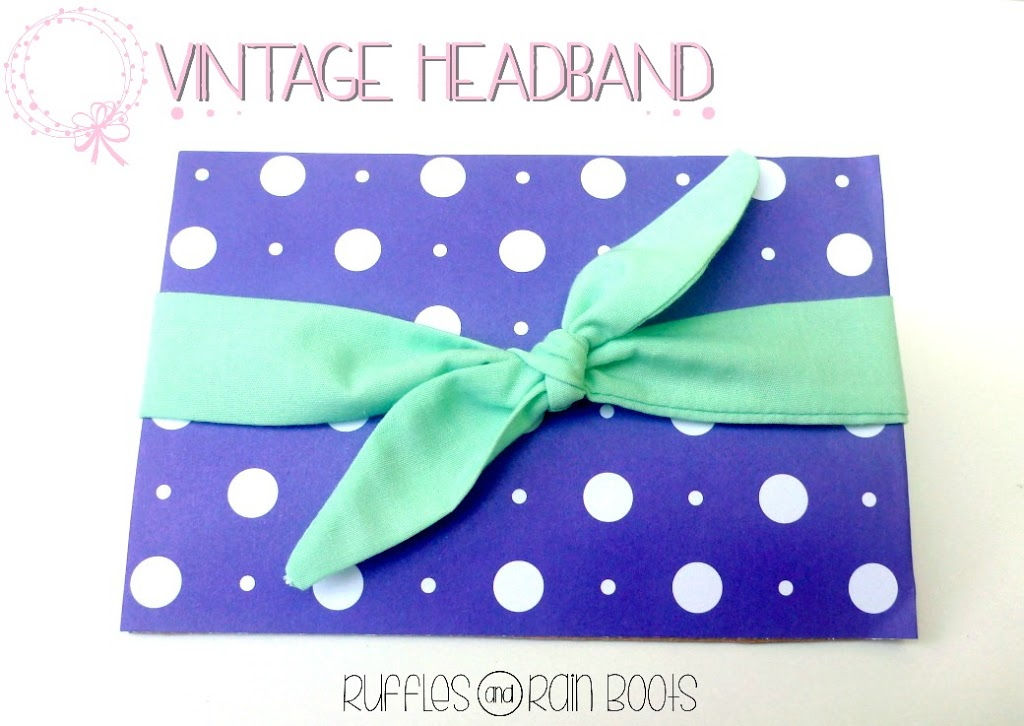 Vintage Headband by Ruffles and Rain Boots