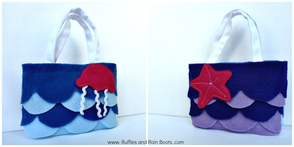 Double Sided Felt Bag for Party Favors