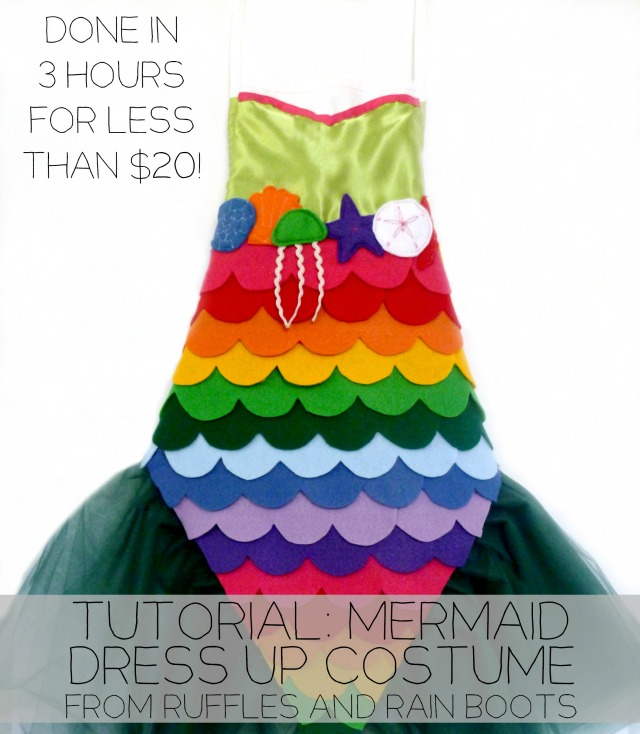 DIY Mermaid Costume Tutorial with a No Sew Option