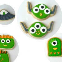 Monster and Alien Cookies with a Cookie Cutter Hack!