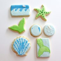 Decorated Mermaid Cookies