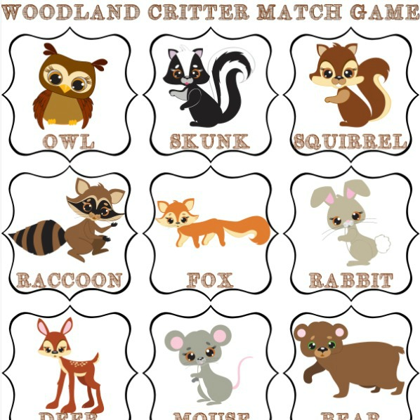 This is a picture of Playful Animal Matching Game Printable