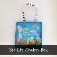 sea life shadow box craft for kids by Ruffles and Rain Boots