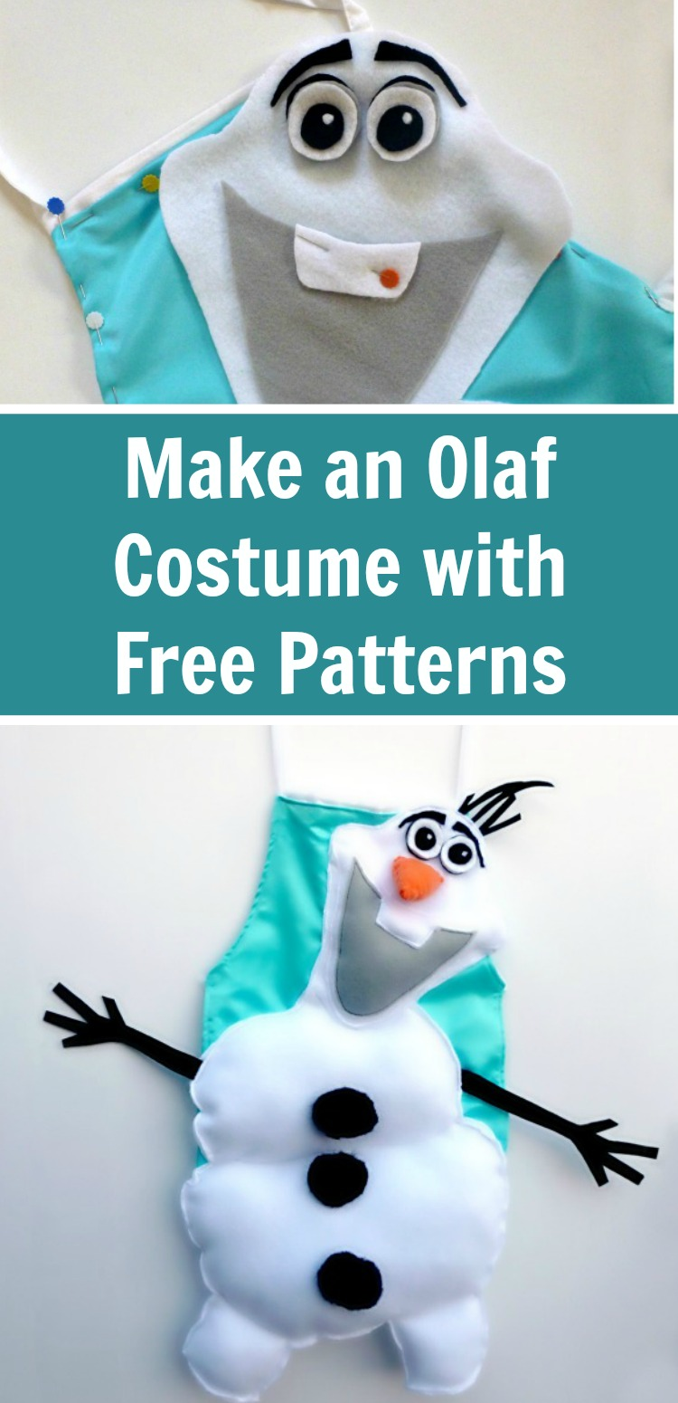 Make this Olaf dress up costume for any snowman fan. Included are free patterns and a step by step tutorial. #rufflesandrainboots #frozen #disney #costume #dressup