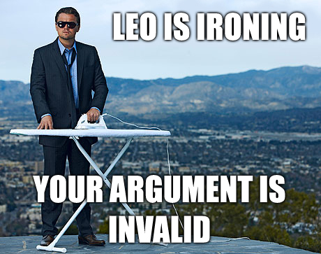 Leonardo Dicaprio Is Ironing