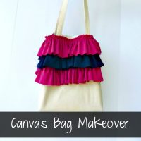 Canvas Bag Tutorial by Ruffles and Rain Boots