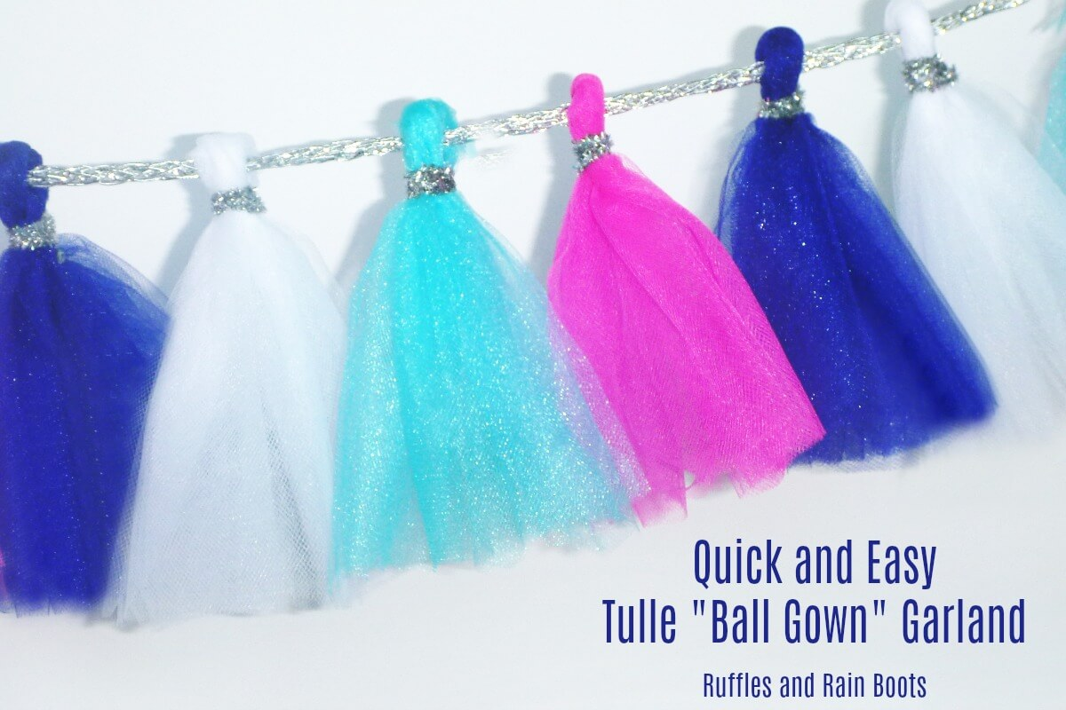 Tulle Garland Ball Gown Garland Princess Garland DIY