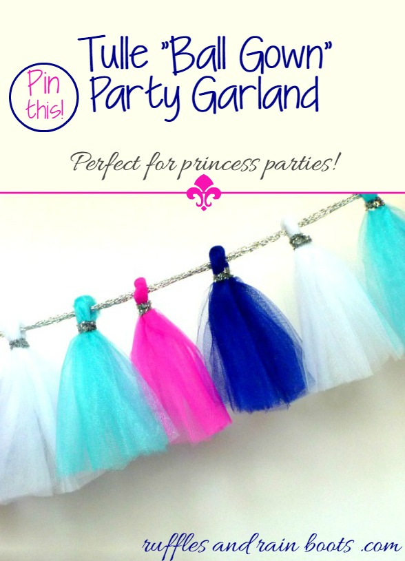 Tulle Ball Gown Party Garland | Ruffles and Rain Boots