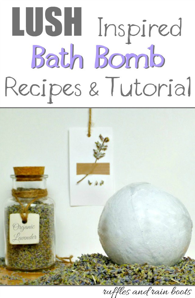 Lush Inspired Bath Bomb Recipe Lavender Vanilla: Ruffles and Rain Boots takes you through a fool proof tutorial to produce these luxurious bombs!