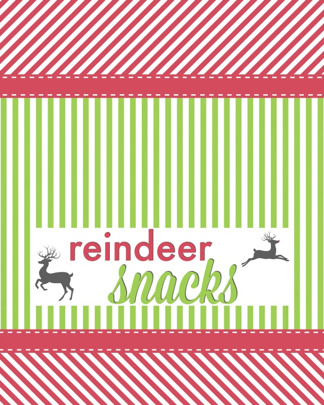 Reindeer Snacks Printable | Ruffles and Rain Boots