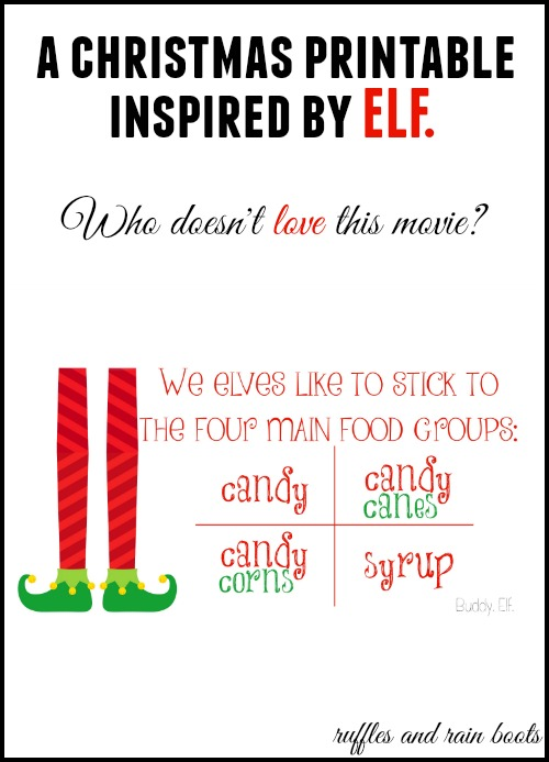Elf Christmas Printable  Ruffles and Rain Boots
