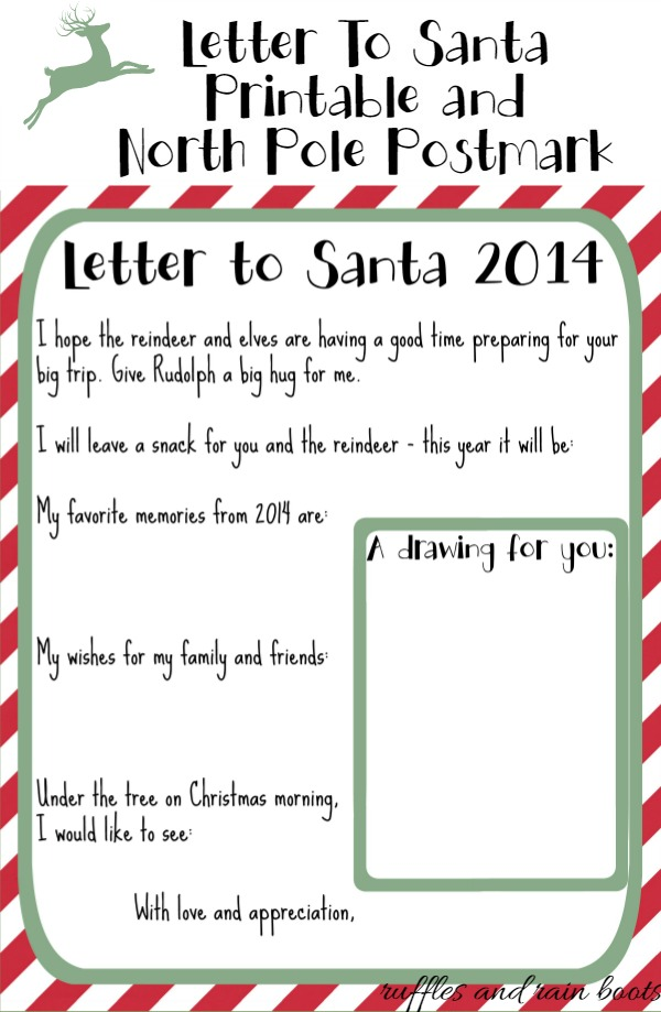Letter to santa printable ruffles and rain boots send letters to santa ruffles and rain boots spiritdancerdesigns Image collections