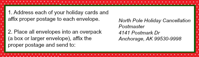Holiday Cards North Pole Stamp | Ruffles and Rain Boots