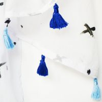 Make This Hand-Painted Scarf with Mini Tassels – An Easy Project!