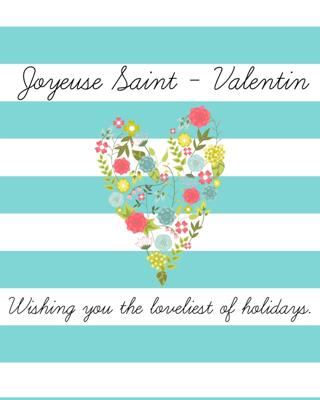 Printable French Valentine