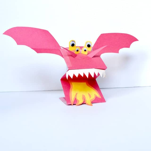 Paper Dragon Puppets - A Fun Paper Puppet Craft