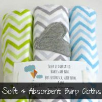 Burp Cloth Tutorial | Ruffles and Rain Boots