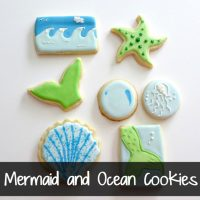 Mermaid and Ocean Cookies