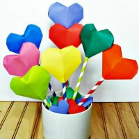 Make This Adorable Origami Heart Bouquet and Garland