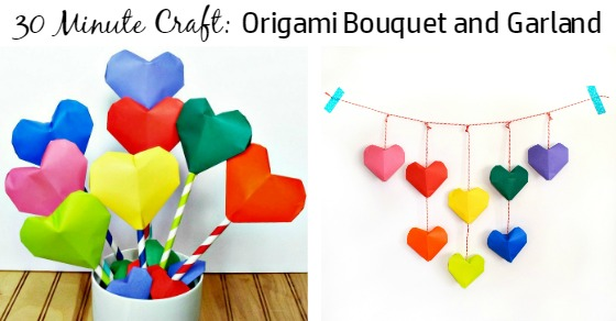 Make This Adorable Origami Heart Bouquet And Garland Ruffles And
