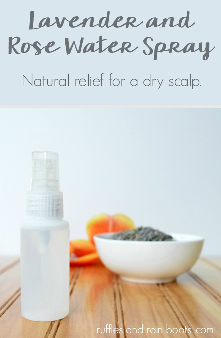 For an all natural, two ingredient dry scalp remedy, use these two ingredients! #diybeauty #rufflesandrainboots