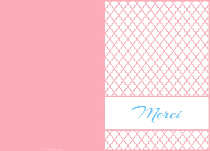 Thank You card printable quatrefoil merci