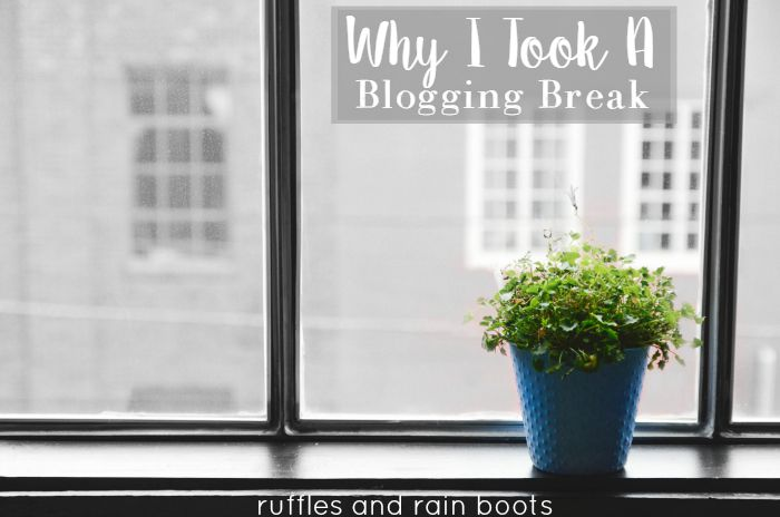 Blogging Breaks