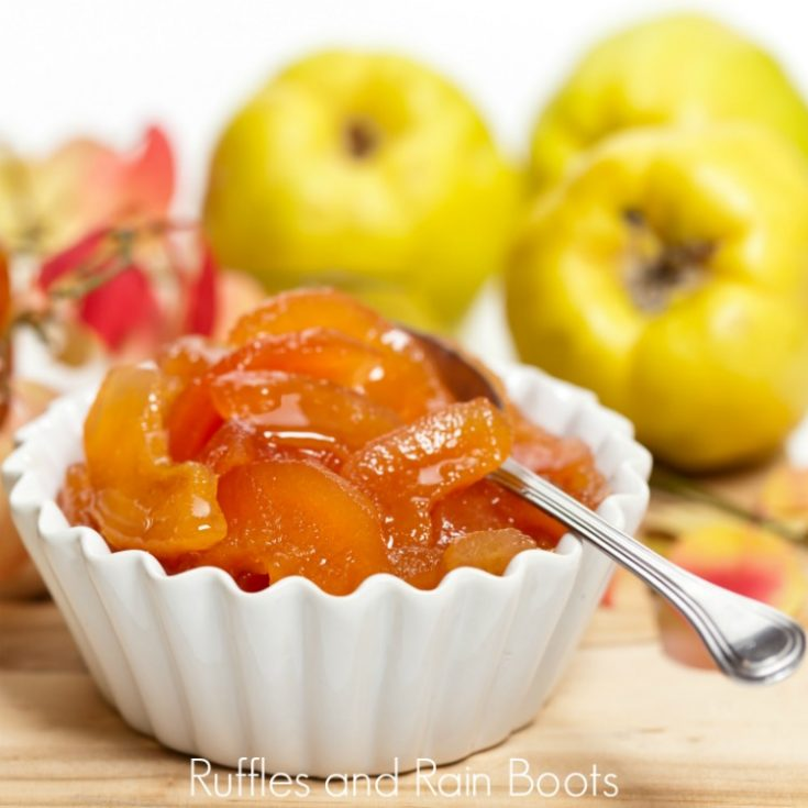 Quince Compote - Fall Fruit