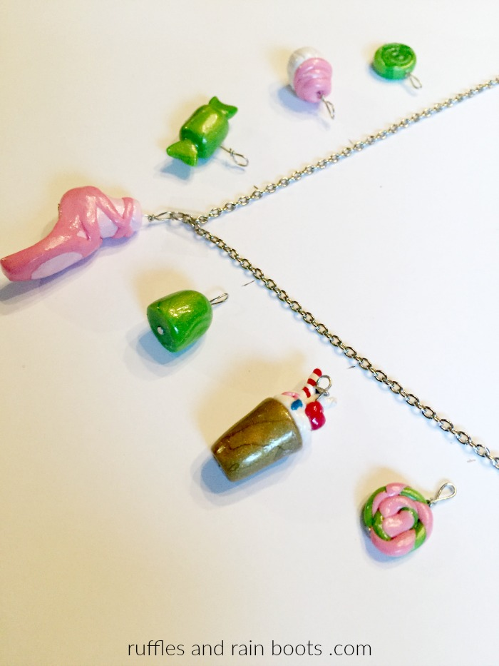 Clay Candy Charm Necklace