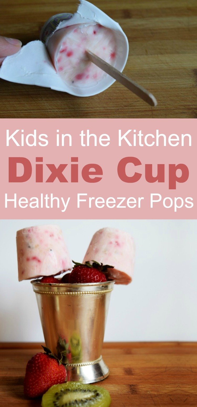 Dixie Cup Popsicles - Make healthy freezer pops or popsicles with a paper cup