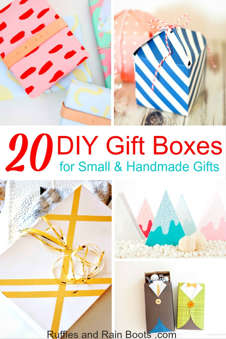 Looking for DIY gift box ideas to make your gift extra special? Here are some ideas and templates to get you started! #rufflesandrainboots #diygift #giftbox #easydiy