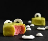 Mini Monster Cakes or Monster Petit Fours