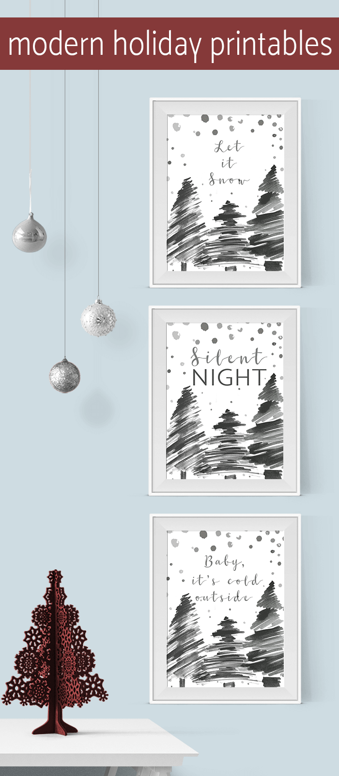 Get these free modern holiday printables AND 10 ways to use printables this holiday season!