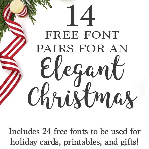 photograph relating to Printable Fonts named 24 Absolutely free Fonts for Xmas Playing cards, Invites, and Printables