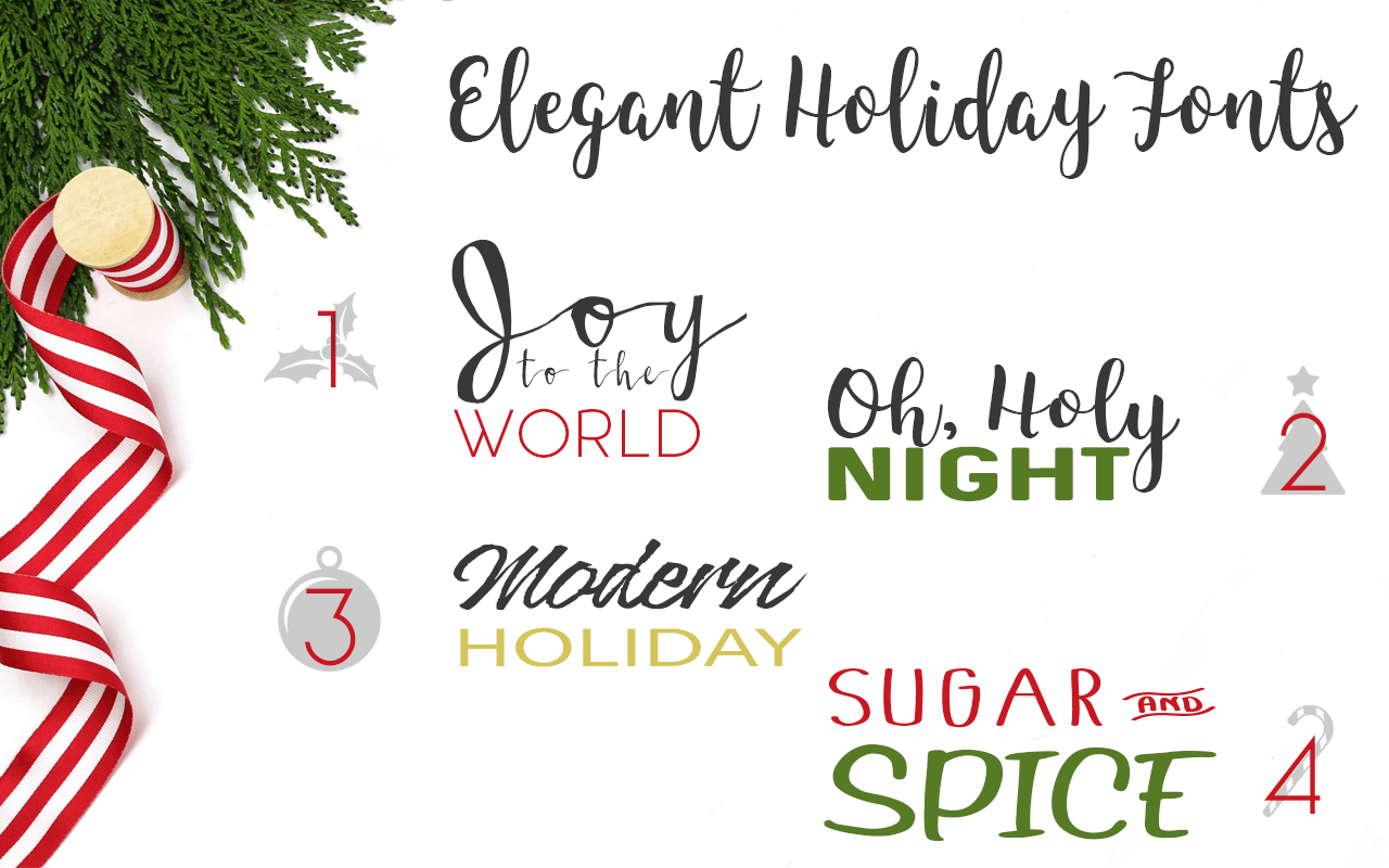 Free Fonts for Christmas Cards DIY or Uploads