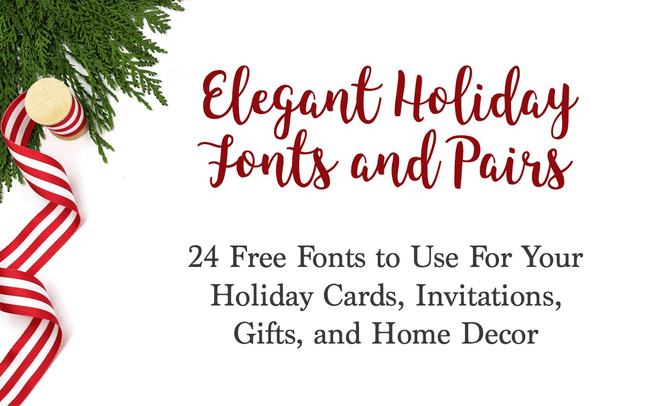 picture about Printable Fonts known as 24 No cost Fonts for Xmas Playing cards, Invites, and Printables