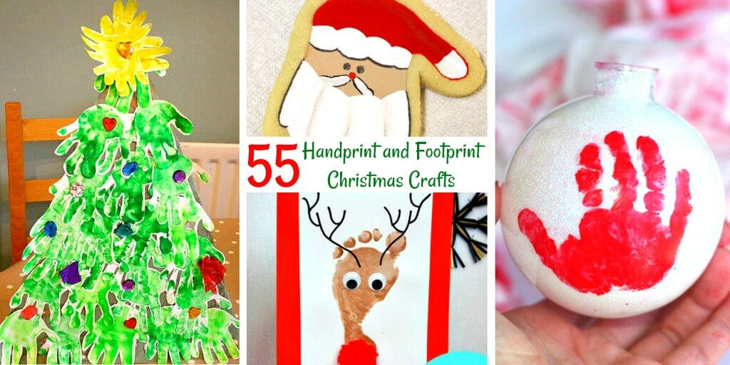 Handprint Christmas Crafts are sure to please parents, grandparents and care-givers. See these creative takes on an old-fashioned gift!