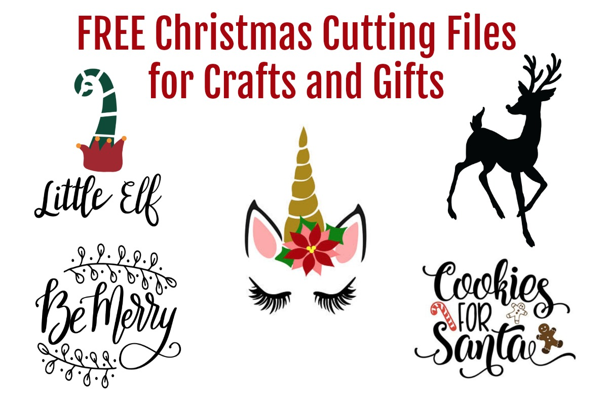 Get these free SVG files for Christmas crafts, cards, gifts, and more. #christmas #svg #DIYChristmasgifts
