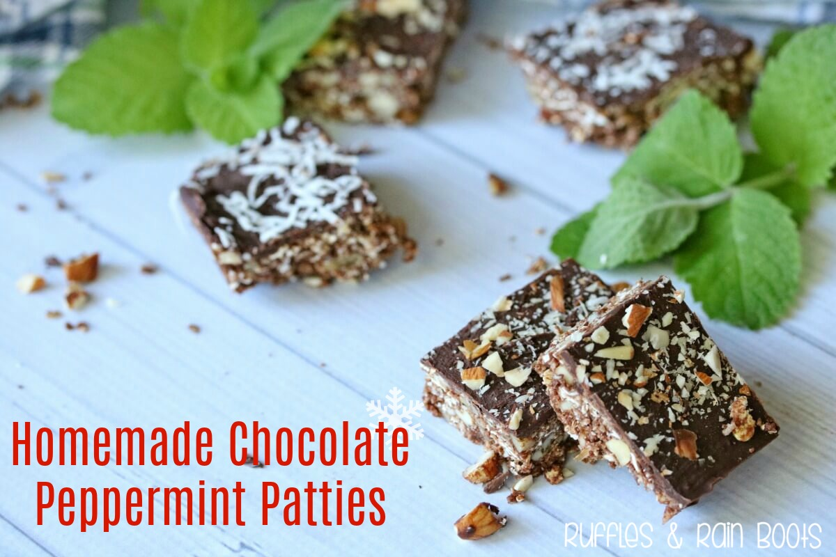 Homemade Chocolate Peppermint Patties for Cookie Platter