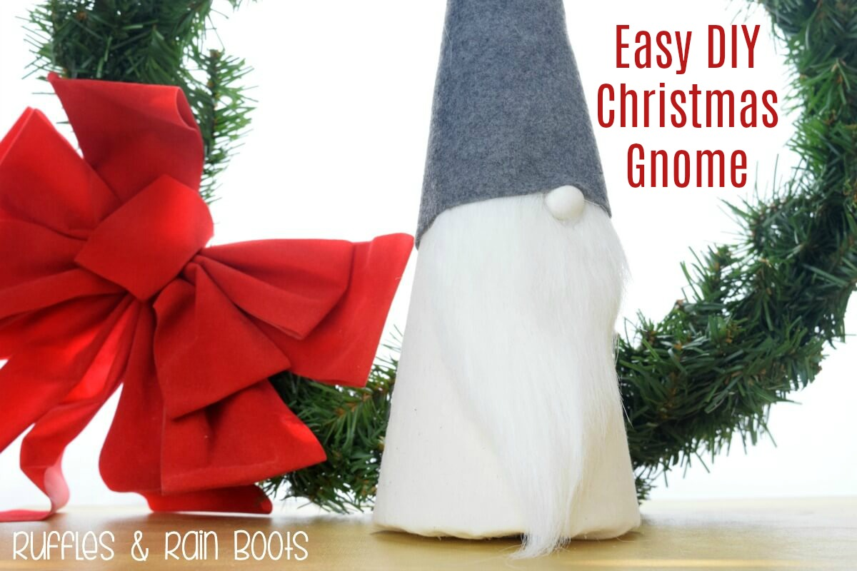 Easy DIY Christmas Gnome Holiday Decor Easy