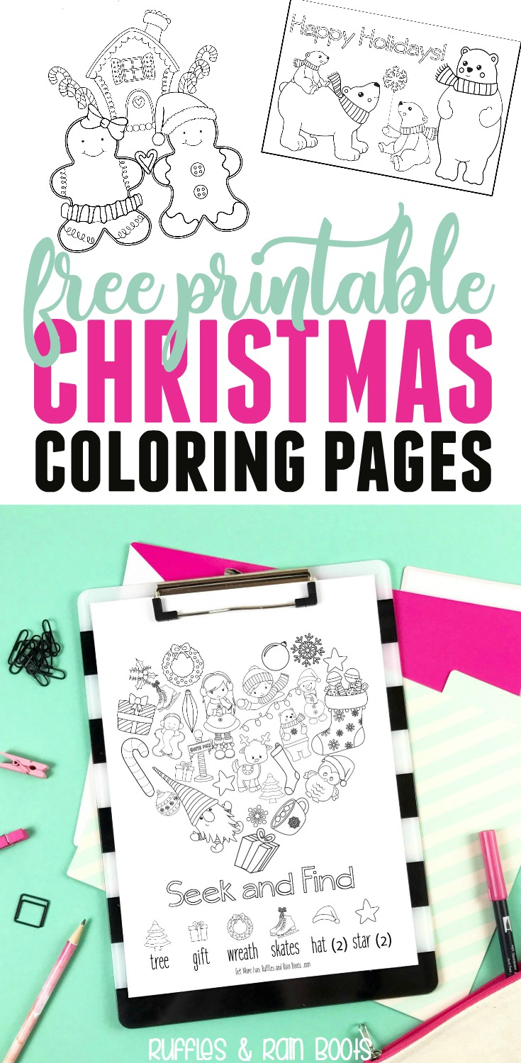 Get these free Christmas Coloring Pages free. The entire printable pack includes gifts, advents, service ideas, and so much more! #Christmas #printable #freecoloring #coloringpages #kidscoloring