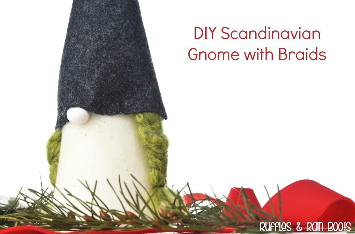 This easy holiday craft for a DIY Scandinavian gnome will add a festive, feminine touch to your decor.