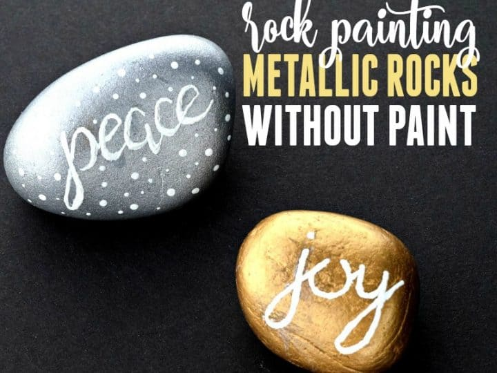 Rock Painting Gold And Silver Without Using Paint