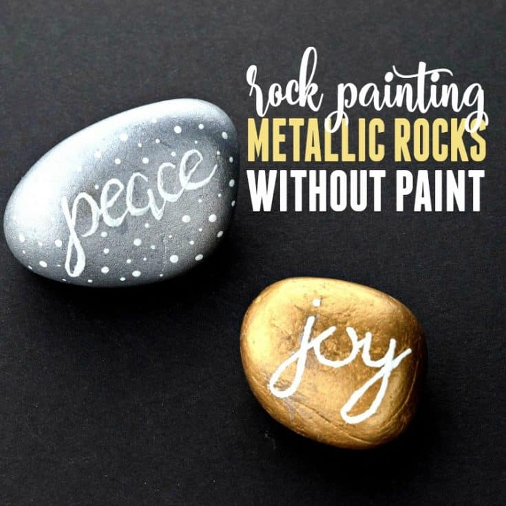 Rock Painting Gold and Silver Without Using Paint!