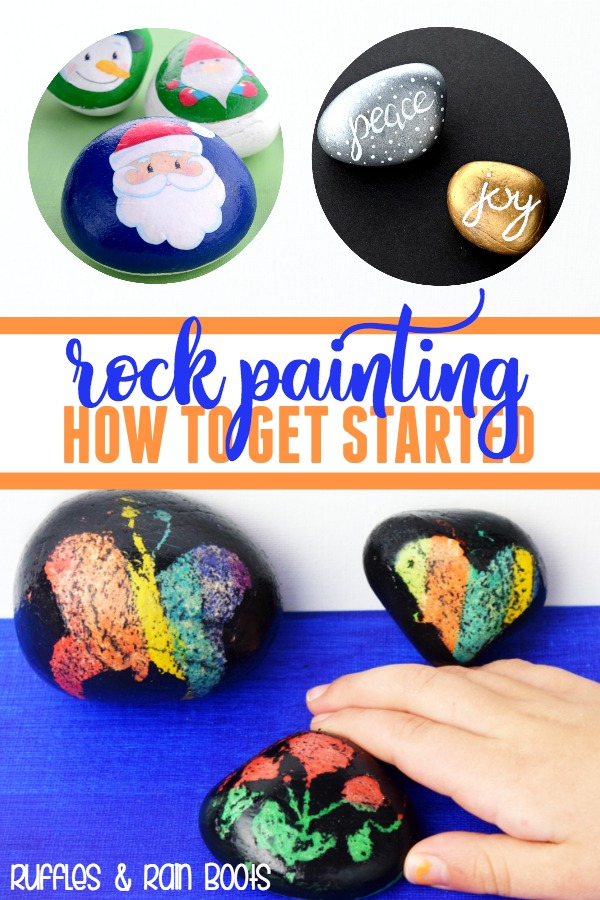 Rock Painting Starter Kit and How to Get Started Rock Painting for Beginners #rockpainting #crafty #painting #kidcrafts #kbn