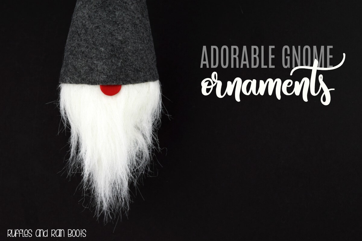 How to Make an Adorable, Easy DIY Gnome Ornament for Christmas, Holiday, and Year-Round Decor