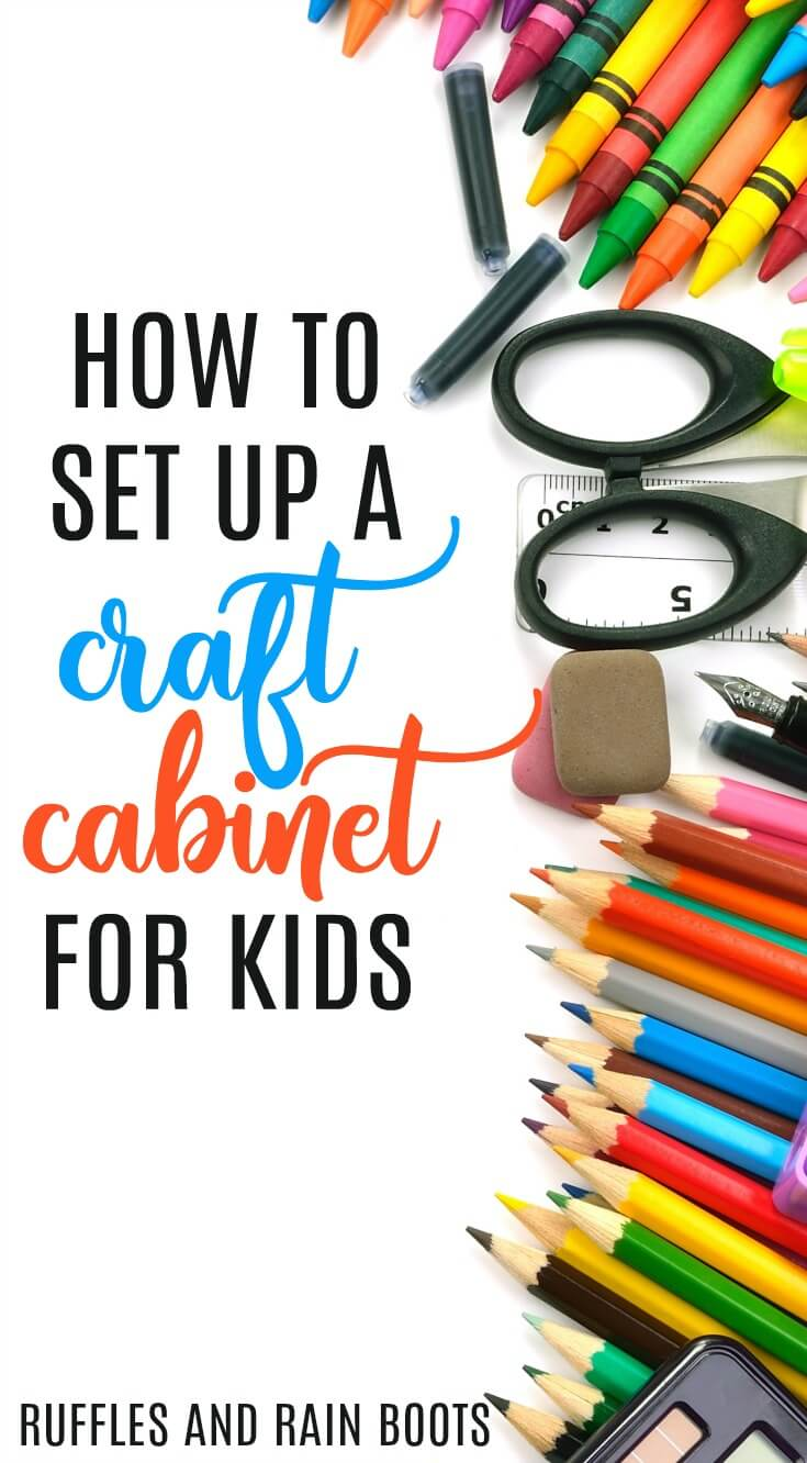 Learn how to set up a craft kit for kids without wasting money on craft supplies #Crafts #craftsforkids #craftwithkids #kidcrafts